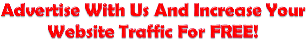 Advertise with us and increase your website traffic for free